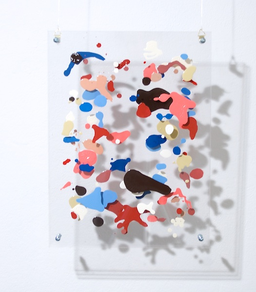 Funny Friends, Enamel on perspex. 2007.